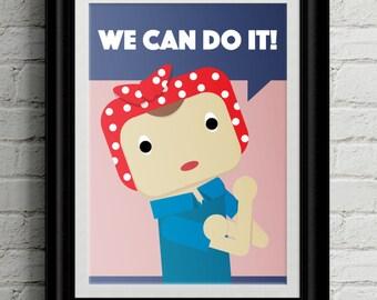 Girl Power Themed Kid's Bedroom Wall Art - Feminist -Girls Room Decor - Feminism Room Decor - Nursery Decor