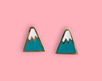 Mountain Earrings - 22k Gold Plated Mountains