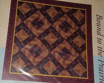 Quilt Pattern - Bound to the Prairie, brown quilt, Moda fabric pattern, quilting