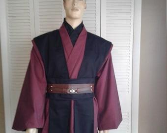Star Wars Jedi Knight Size X-Large Tall Wine, and Black 5 Piece Handmade Costume