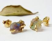 Raw Opal Earrings, Gift for Her, Opal Stud Earrings, Opal Studs, Gift for Women, Unique Gifts, Best Friend Gift, Jewelry Gift, Gift Idea