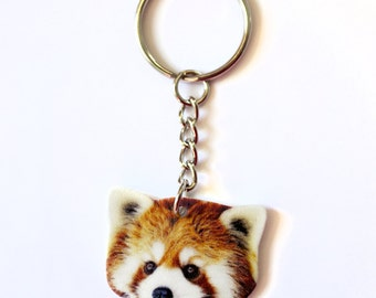 Red Panda Animal Lover Keychain Cute Funny Animal Accessories Gift Idea