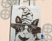 Harry Potter Cat Bag Hand Printed Mini Tote Shopping Bag Children
