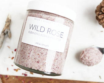 Wild Rose Body Scrub | Mother's Day Gift, Gifts for Mom | 100% Natural & Vegan Body Scrub