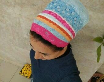 handmade summer, Sinar Scarf ,tichel,jewish head covering,sinar tichel,headscarf,mitpachat,made of soft cotton by oshratDesignz