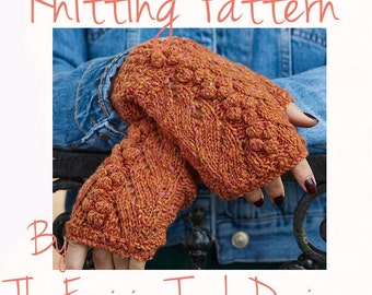 Knitting Pattern , Gloves pattern , Knitters Instructions , PDF download , Instant download , DIY knit , Craft Tutorial , Gift for knitters