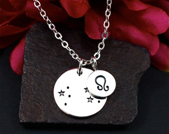 Leo Constellation Necklace Sterling Silver | Leo Jewelry | Leo Sign Necklace | Leo Zodiak Necklace | Leo Birthday Gift | Gift for Her