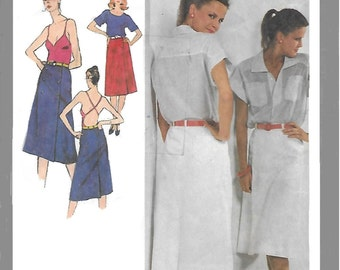 Simplicity 9326 Misses' 70s Front-Wrap Slim Skirt Sewing Pattern Size 12, Waist 26 1/2.