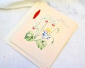 1940s NOS Birthday Card with Envelope