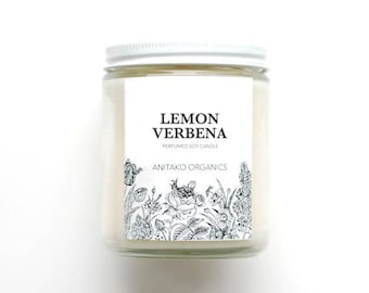 LEMON VERBENA - Perfumed Soy Candle, Vegan, Natural Home Fragrance