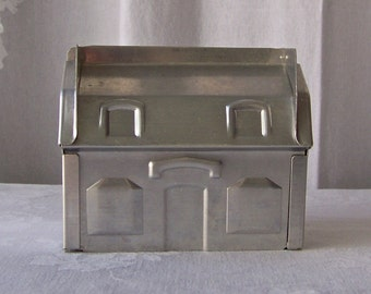 Vintage Cake Mold Party House Mould Aluminum Gingerbread house 3D Cake Form Pan 1980s