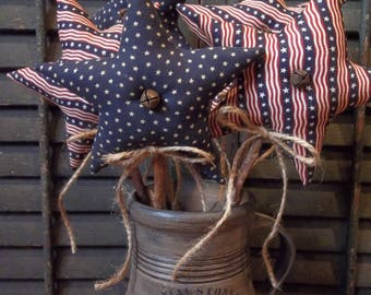 Gathering of Primitive Handmade Americana Stars on Branches