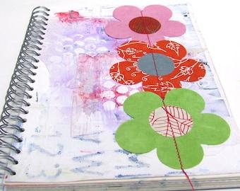 Mixed media Art  journal - smash book - stash album - diary - Notebook