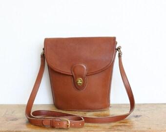 Vintage Coach Bag // Crossbody Bucket Bag in British Tan // Coach Handbag Purse // Binocular Bag