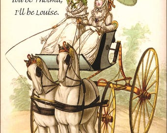 "You Be Thelma, I'll Be Louise. Marie Antoinette Inspired 4"" x 6"" Postcards. Free Shipping in USA"