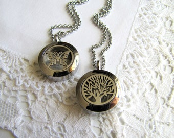 Essential Oil Diffuser Necklace Stainless Steel Aromatherapy Locket Aromatherapy Necklace Homeopathic Jewelry Essential Oil Jewelry Holistic