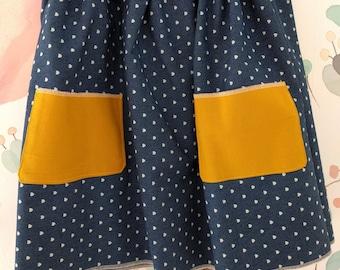 Blue Jean and Mustard Oh So Pretty