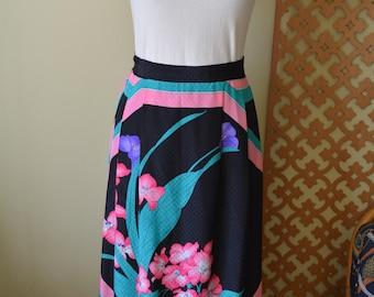 Tropical Midi Skirt sz 9-10