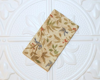 Fabric Checkbook Cover - Money Holder - Gifts Under 10 - Cover For Checkbook - Coupon Holder
