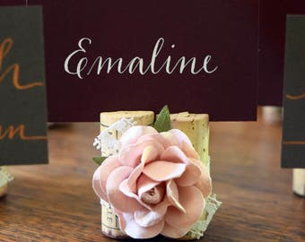 Winery Wedding Centerpieces. Blush Pink PlaceCard Holder. Wedding Table Decor. Wedding Signage Weddings Centerpieces. Wedding Placecards.