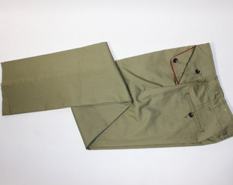 "vintage 50's - 60's -Boy Scouts of America- pants. 'New Old Stock'. Flat front - Turndown pockets - Skinny leg. 30"" Waist / Un-hemmed"