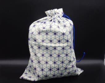 Hanukkah Gift Bag, Star of David Bag, Chanukah Cloth Bags, Reusable Drawstring Bag, Favor Bag, Jewish Gift Bag