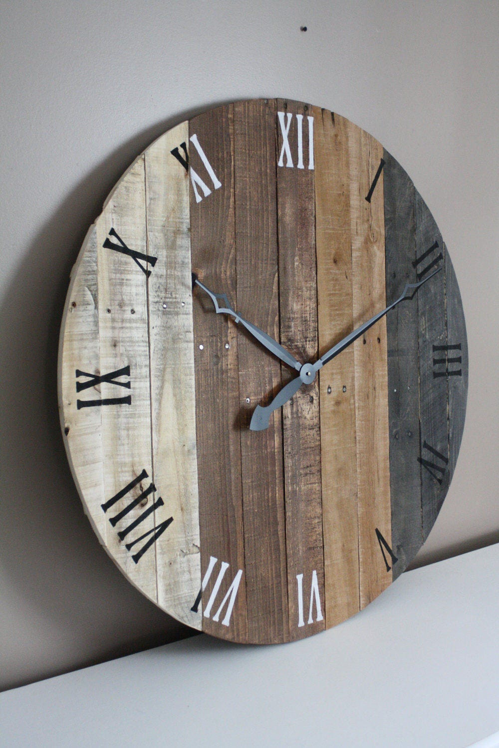 large rustic wall clock modern farmhouse clock 36 inch
