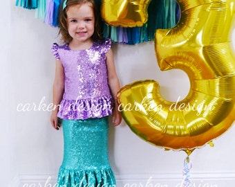 sequin mermaid peplum top shirt tee t shirt outfit mermaid top baby toddler girl lavender pink silver coral blush teal champagne blue gold b