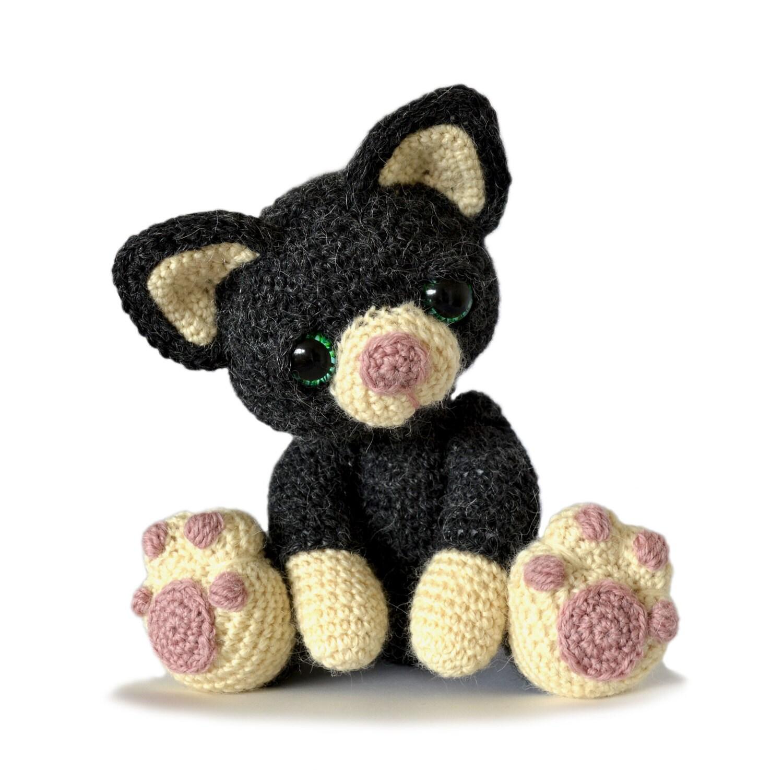 kitten cat amigurumi crochet pattern pdf instant download. Black Bedroom Furniture Sets. Home Design Ideas