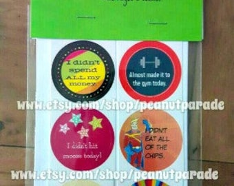 ORIGINAL 'You Adulted Today!' [TM] Adulting Reward Stickers Peanut Parade  - set of 12 stickers