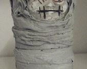 Mummy - Zombie Whimsical Artist Doll Ooak Recycled Russian Doll