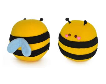 Honey Bee plushie / novelty stuffed animal bee soft toy