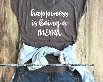 Happiness is being a MEMA shirt // Grandma Shirt, Grandma Gift, Pregnancy Annoucement, New Grandma