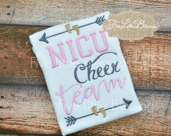 NICU - NICU sibling - cheer team - little fighter - big supporter - big sister - big brother - baby shower gift - hero - new baby -