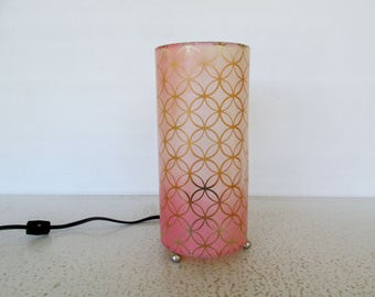 Pink Accent Table Lamp Mid Century Style Retro Mod