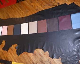 Leather HIDE 20-24 sq ft BIKER collection Choose from 11 colors of our Top grain Cowhide 3.5oz / 1.4 mm PeggySueAlso™ E2879