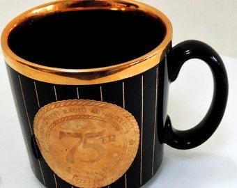 Vintage Mug,Interdepartment Radio Advisory Committee,75th Anniversary,Collectible Mug,Ceramic Mug,Keepsake,Made in England