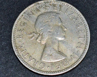 1962 Great Britain 2 Schilling silver