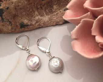 Freshwater Pearls - Sterling Silver Earrings