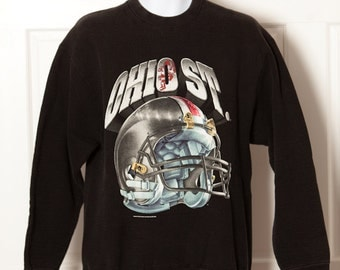 Vintage 90s OHIO STATE Football Sweatshirt - Salem Sportswear - L