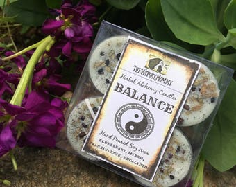 BALANCE Soy Tealight Candles, 4 pk, Herbal Alchemy Candle - Ritual, Meditation