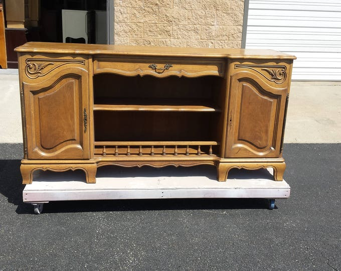 Vintage French Provincial Shabby Chic buffet, liquor cabinet, server, PICK UP ONLY  french country chest, france, dresser, rustic, farmhouse