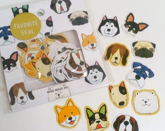 Cute Dog Mind Wave Inc Sticker Flake Set
