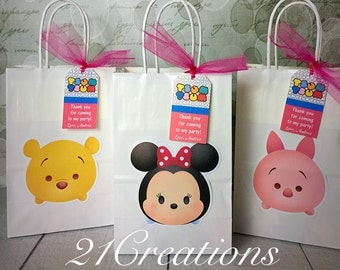 Tsum Tsum Favor Bags with Tags