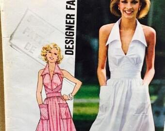 Simplicity 7431 Designer Fashion Halter Dress