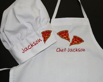 Children's Cupcake Chef Apron and Hat, Children's Kitchen, Personalized Apron, Apron logos, monogrammed apron sets, chef hat, chef coat