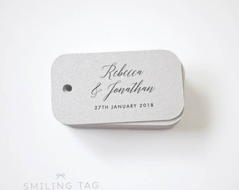 Modern Elegant Wedding Favor Tags -Personalized Gift Tags -Bridal Shower -Thank you tags- Party Tags Custom Gift Tags - (Item code: J671)