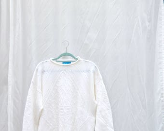 Gina cream white vintage pull 90s