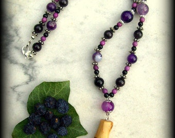 Dark Mother Blackthorn Necklace - Witchcraft, Magic, Druid, Wicca, Pagan