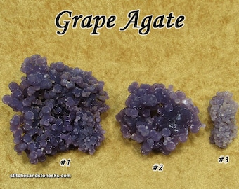 Grape Agate raw rough stone for crystal healing BEST QUALITY Purple Botryoidal Chalcedony